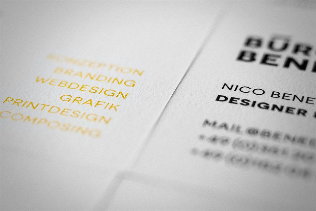 Visitenkarten Erstellen Dresden Büro Benedickt