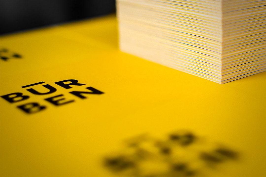 Druckdetail Visitenkarten - Büro Benedickt