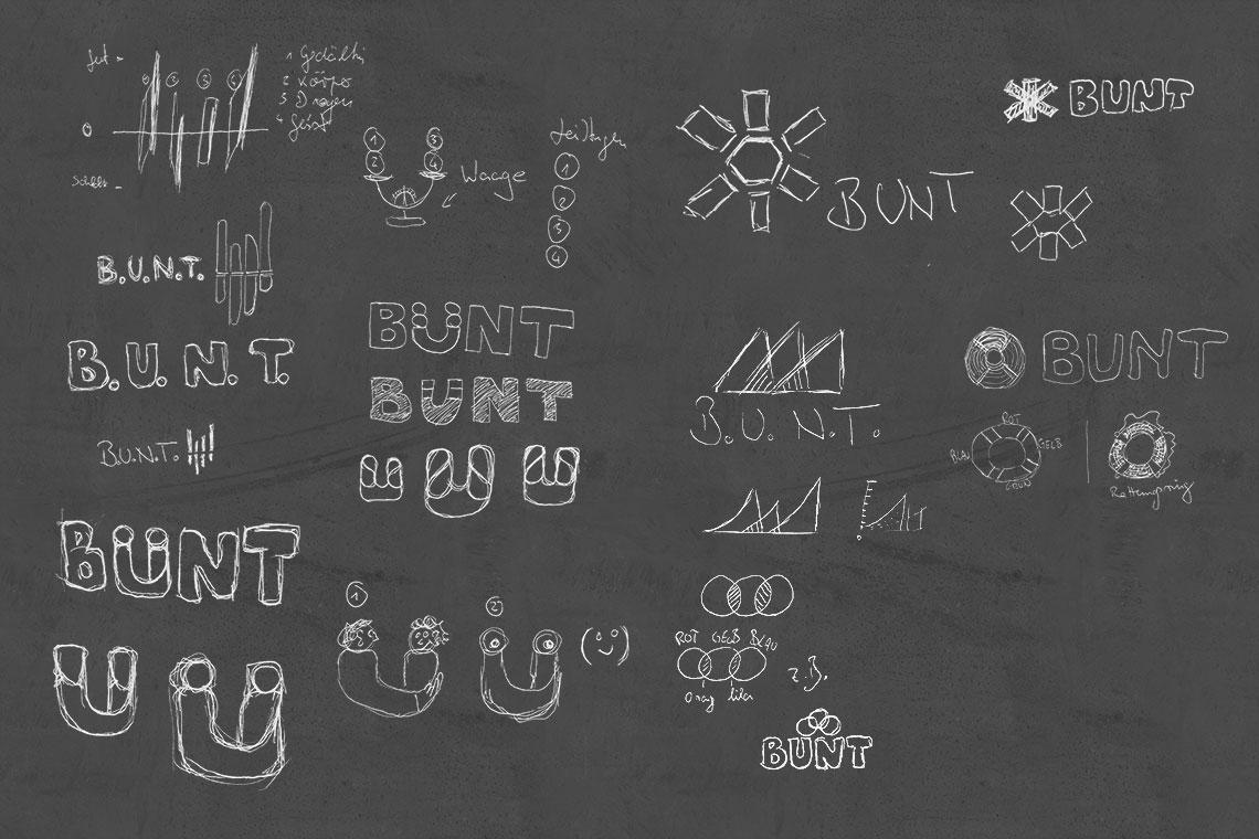 Logodesign Skizzen BUNT von BueroBenedickt
