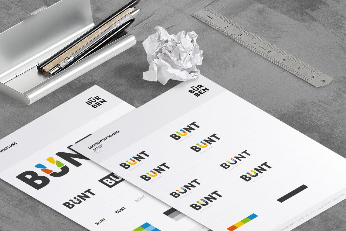 Logodesign Guide BUNT von BueroBenedickt